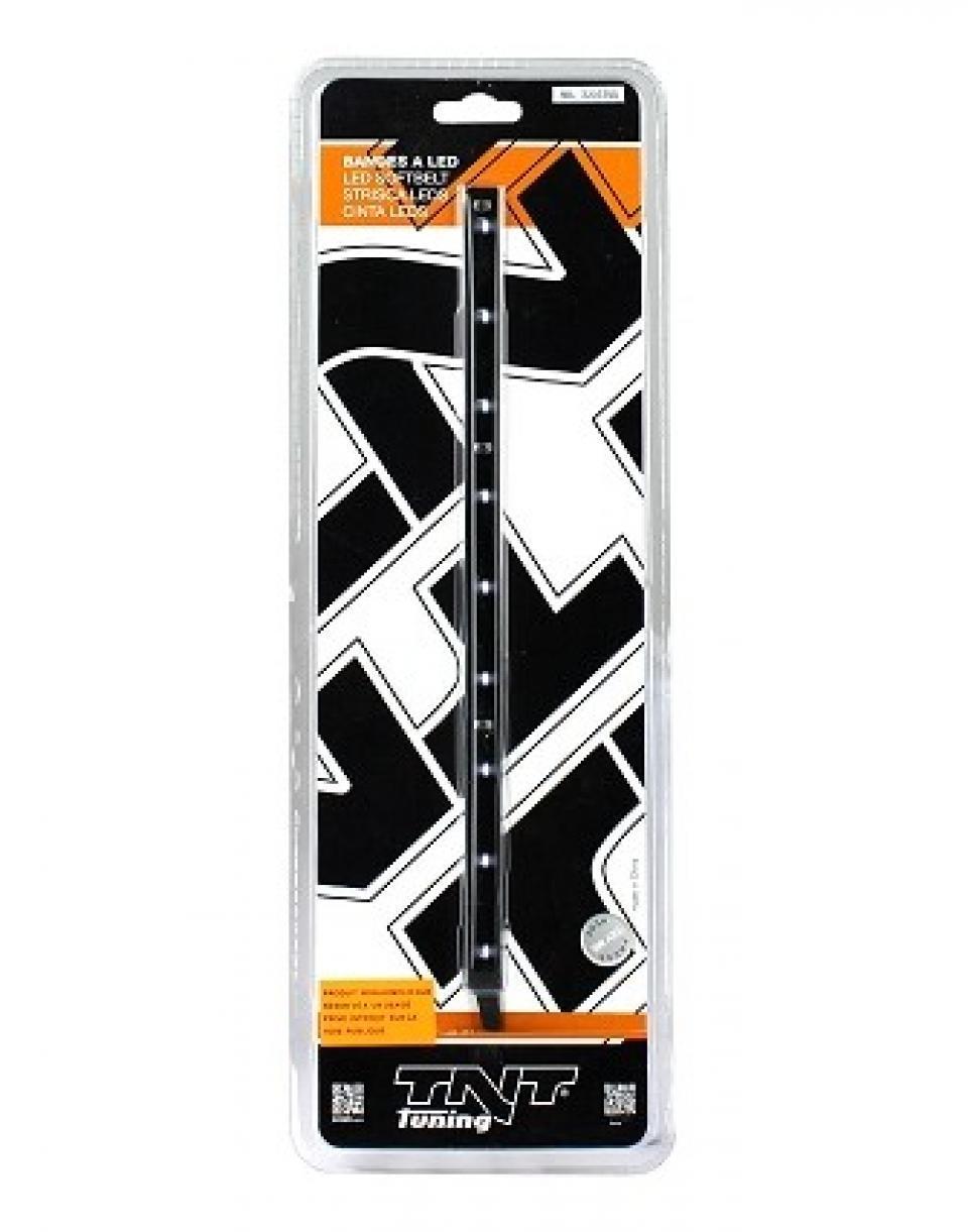 bande n on autocollante led blanche 25cm fond noir 12v. Black Bedroom Furniture Sets. Home Design Ideas