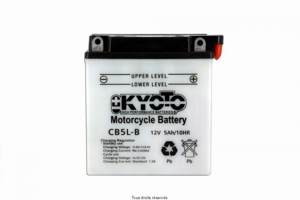 Batterie Tecnium Moto Suzuki 600 DR S 1985-1988 YB5L-B 12V 5Ah Neuf