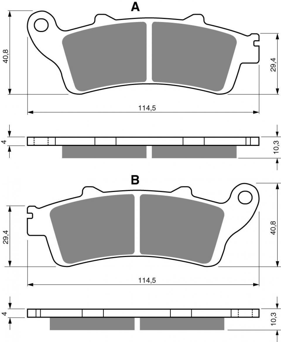 A1//A2//A3//A4//A5 Neuf Plaquette de frein Gold Fren pour Moto Honda 1800 GL Goldwing 2001 /à 2005 AVG//AVD