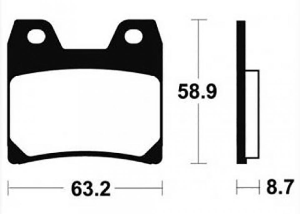 GoldFren Rear Right Brake Disc Pads x2pcs 330222 Yamaha XJR 1300 2002-2013