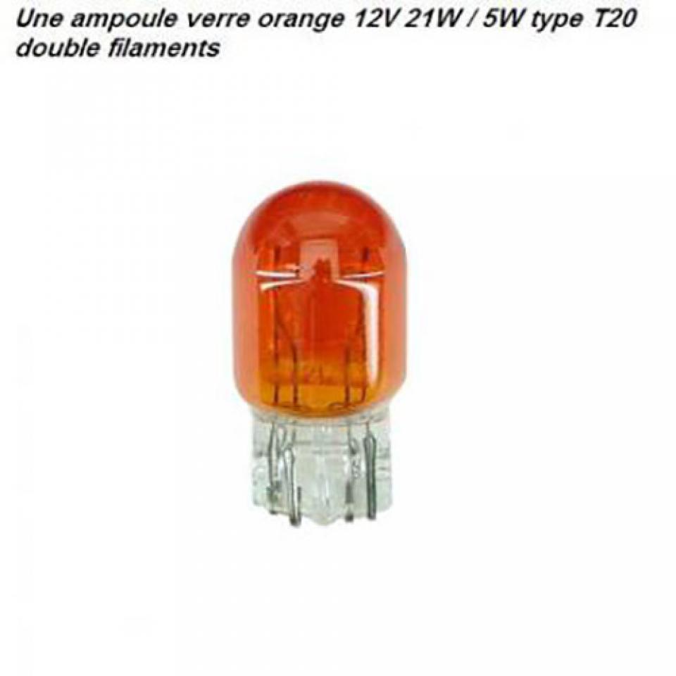neuf une ampoule verre orange 12v 21w 5w type t20 deux. Black Bedroom Furniture Sets. Home Design Ideas