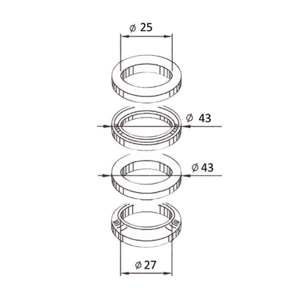 kit roulement de colonne de direction scooter mbk 50. Black Bedroom Furniture Sets. Home Design Ideas