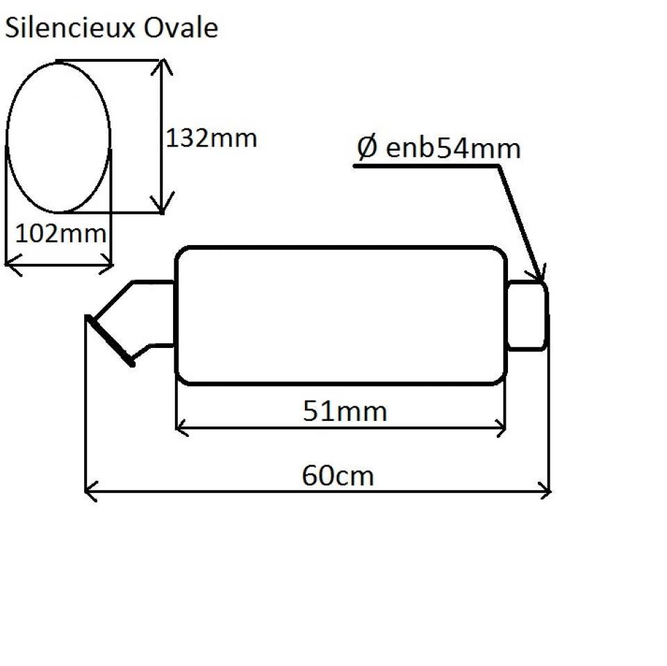 silencieux d chappement ovale de la marque termignoni. Black Bedroom Furniture Sets. Home Design Ideas