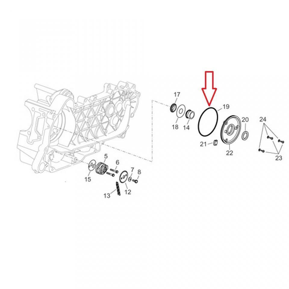 O Ring Engine Origine Scooter Aprilia 125 Atlantic 2003 2011 825620 Diagrams Description