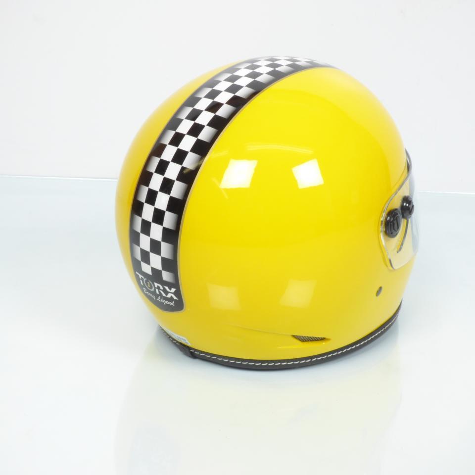 Casque De Moto Route Vintage Torx Barry Legend Racer Yellow Shiny